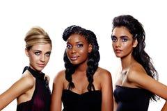 Mulheres da forma de raças diferentes Fotografia de Stock