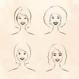 Mulheres da raça humana ilustração stock