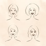Mulheres da raça humana Foto de Stock Royalty Free