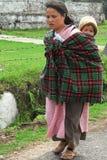 Mulheres da vila em India do nordeste Fotos de Stock Royalty Free