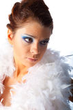 Mulheres de Beautyful no fundo branco imagem de stock royalty free