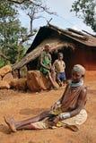 Mulheres de Bonda em sua vila. Fotos de Stock Royalty Free