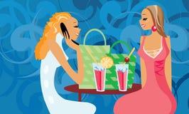 Mulheres de fala ilustração stock