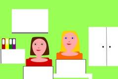 Mulheres de funcionamento em um escritório Fotografia de Stock