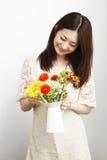 Mulheres de jardinagem Foto de Stock Royalty Free