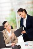 Trabalho das mulheres de negócio Foto de Stock Royalty Free