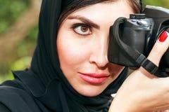 Mulheres de negócio do árabe que tomam a foto Fotografia de Stock Royalty Free