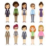 Mulheres de negócio dos desenhos animados ilustração stock