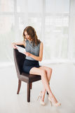 Mulheres de negócio na cadeira Fotos de Stock