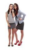 Mulheres de negócio que fazem um atendimento Fotografia de Stock Royalty Free