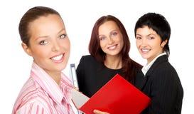 Mulheres de negócios bonitas novas Imagem de Stock Royalty Free