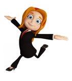 Mulheres de negócios com pose de corrida Imagens de Stock