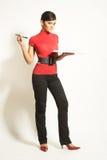 Mulheres de negócios com prancheta Fotos de Stock Royalty Free