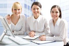 Mulheres de negócios felizes Fotos de Stock Royalty Free