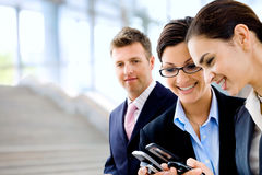 Mulheres de negócios felizes Imagem de Stock