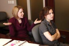 Mulheres de negócios irritadas Imagem de Stock