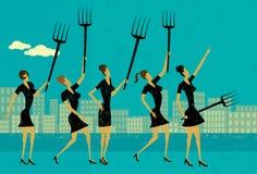 Mulheres de negócios irritadas Fotografia de Stock