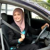 Mulheres de negócios muçulmanas novas bonitas Fotografia de Stock Royalty Free
