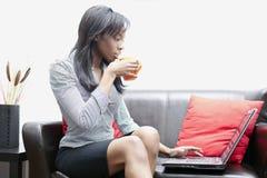Mulheres de negócios pretas bonitas imagem de stock royalty free