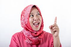 Mulheres de neg?cios mu?ulmanas asi?ticas que vestem o hijab fotos de stock royalty free