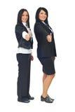 Mulheres de negócio que dão os polegares Imagens de Stock Royalty Free