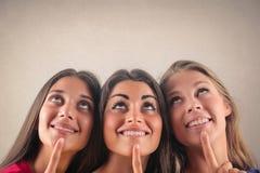 Mulheres de pensamento Fotos de Stock