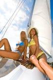 Mulheres de relaxamento fotografia de stock