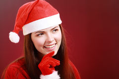 Mulheres de Santa com sacos Imagens de Stock Royalty Free