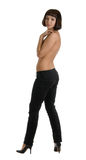 Mulheres despidas nas calças de brim Fotografia de Stock