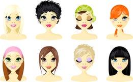 Mulheres do ícone do Avatar Fotografia de Stock