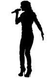 Mulheres do cantor no branco nove ilustração royalty free