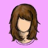 Mulheres do caráter do cabelo de Brown Imagem de Stock Royalty Free
