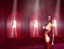 Mulheres do Cyborg de Sci Fi Fotos de Stock