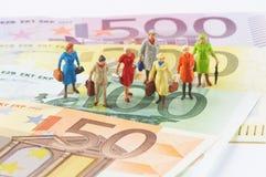Mulheres do dinheiro Foto de Stock Royalty Free