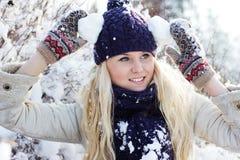 Mulheres do inverno Fotos de Stock Royalty Free