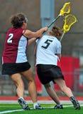 Mulheres do Lacrosse   Fotografia de Stock Royalty Free