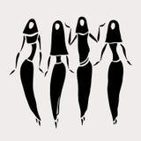 Mulheres do leste no encoberto Foto de Stock Royalty Free