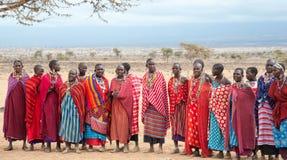 Mulheres do Masai do Amboseli fotografia de stock