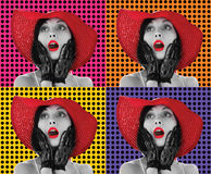 Mulheres do pop art Foto de Stock Royalty Free
