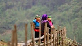 Mulheres do tribo da flor foto de stock
