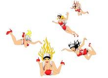 Mulheres do vôo Imagem de Stock Royalty Free