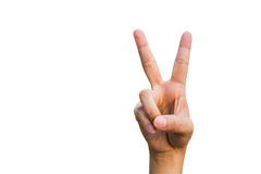 Mulheres dos gestos de mão Fotografia de Stock Royalty Free