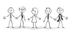 Mulheres e equipe dos homens ilustração do vetor