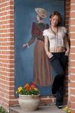 Mulheres e retrato retro imagens de stock