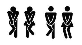Mulheres e sinal do ícone do toalete dos homens ilustração do vetor