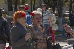 Mulheres em Victory Day imagem de stock