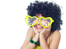 Mulheres engraçadas no amor Fotos de Stock Royalty Free