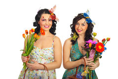 Mulheres felizes da mola Imagens de Stock