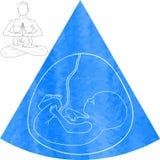 Mulheres gravidas ilustração royalty free