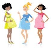 Mulheres gravidas felizes ilustração royalty free